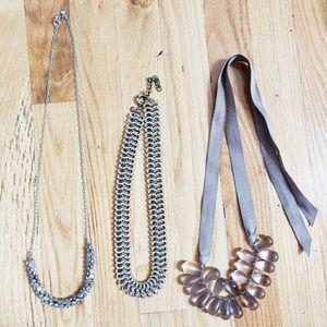Set of 3 J. Crew Necklaces